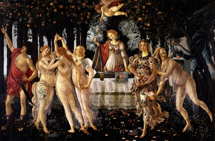 """2014. """"Primavera After Party"""", from """"Primavera, Allegory of Spring"""", Sandro Botticelli"""