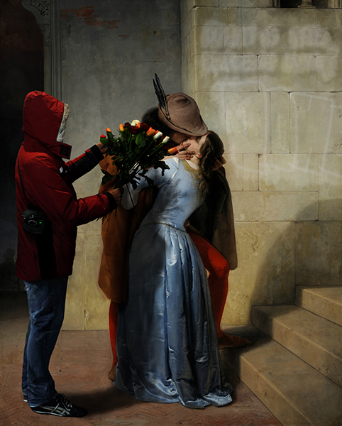 """2012/2013. """"The Kiss, in the wrong place and time"""", from """"The Kiss"""", Francesco Hayez"""