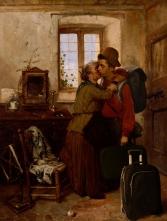"2013. ""Bye Bye Italia"", from ""The Departure of the Garibaldino"", Gerolamo Induno"