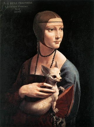 "2011. ""Lady with a Chihuahua"", from ""Lady with an Ermine"", Leonardo Da Vinci"
