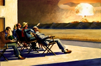 "2018. ""People in tha atomic sun"", from ""People in the sun"", Edward Hopper"