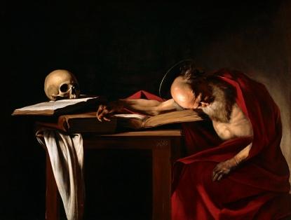 "2018. ""San Gerolamo dormant"", from ""San Girolamo"", Caravaggio"