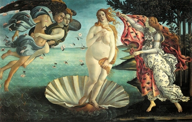 "2009. ""The Belly of Venus"", from ""The Birth of Venus"", Sandro Botticelli"