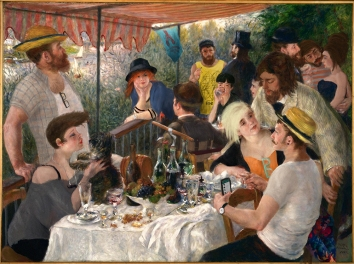 """2015/2018 """"Brunch @ The Lobster Hipster Bar"""", from """"Luncheon of the Boating Party"""", Pierre-Auguste Renoir"""