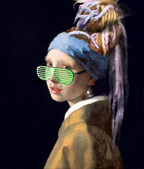"2019. ""The Sistah with a Pearl Earring"", from ""Girl with a Pearl Earring"", Jan Vermeer"